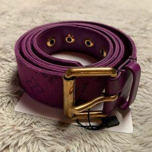 Purple Louis Vuitton denim belt